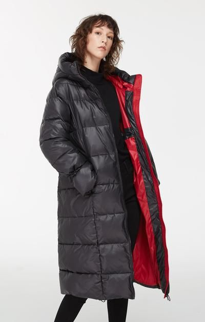 Long Contrast 2019 Katy – In Lining Jacket With Black Puffer N80wOmnv