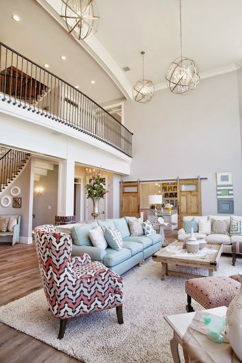 """House of Turquoise: Dream Home Tour - Day OnePaint Info Entry, Family Room, Stairs – Sherwin-Williams """"Passive"""" SW 7064 Trim – Benjamin Moore """"Dove White"""" OC-17"""
