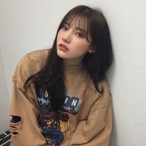 Hair Styles Korean Long Bangs 29 Ideas Girl Haircuts Ulzzang Hair Asian Bangs