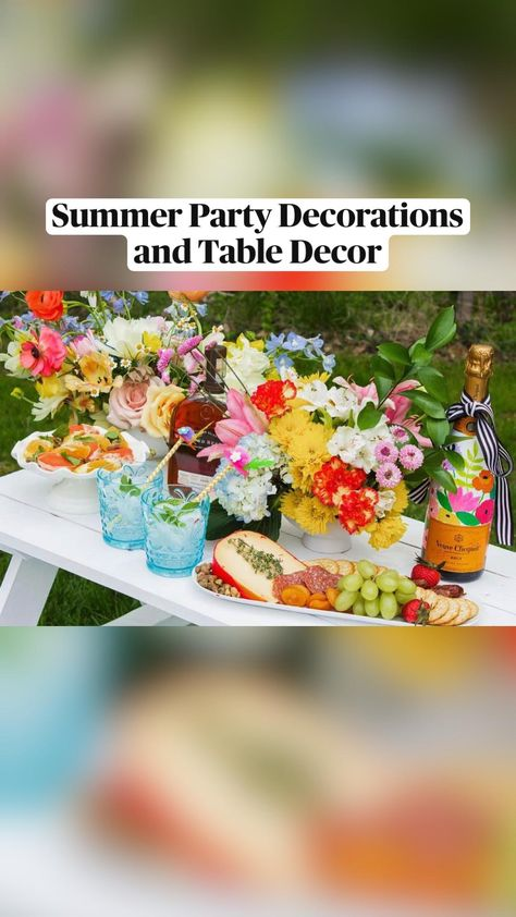 Summer Party Decorations, Table Decorations, Brunch Party, Derby Party, Summer Picnic, Summer Parties, Kentucky Derby, Baby Shower, Bridal Shower