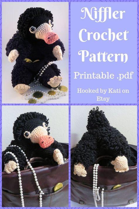 Niffler Crochet Pattern | Printable .pdt | Etsy | $5.00