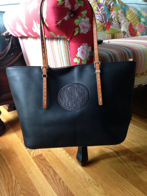 Monogram Purse Black by IFlewTheNest on Etsy, $50.00