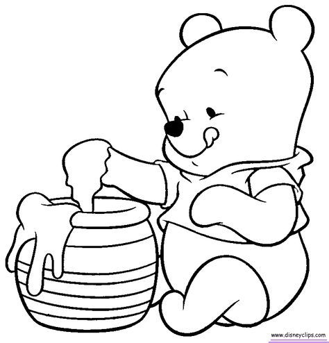 Best Drawing Disney Baby Winnie The Pooh 70 Ideas Winnie The Pooh Drawing Bear Coloring Pages Disney Coloring Pages