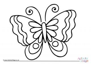 Colouring Sheet Butterfly In 2020 Butterfly Coloring Page