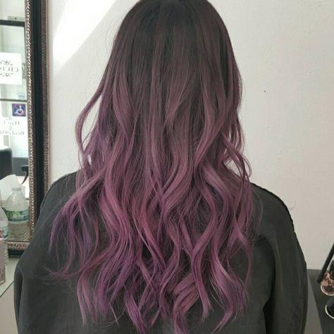 Light Purple Hair, Hair Color Purple, Hair Dye Colors, Black To Purple Ombre, Turquoise Hair Ombre, Bright Hair, Dip Dye Hair Brunette, Dye My Hair, Violet Hair