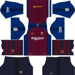 Dream League Soccer Kits Barcelona 2018-19 Kit 512x512 URL ...