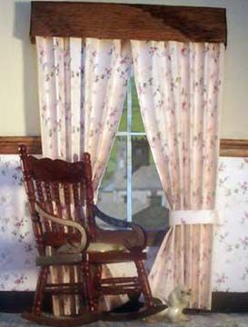 make diorama curtains out of paper.
