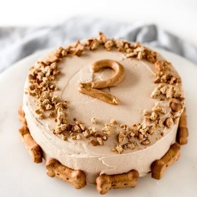 This dog cake recipe calls for pumpkin and applesauce for sensitive stomaches The greek yogurt peanut butter frosting will be irresistible for your pup via haleydwilliams Dog Cake Recipe Pumpkin, Dog Cake Recipes, Dog Biscuit Recipes, Dog Treat Recipes, Dog Cake Frosting Recipe, Easy Dog Cake Recipe, Dog Cake Recipe Peanut Butter, Dog Treat Icing Recipe, Pumpkin Recipes For Dogs