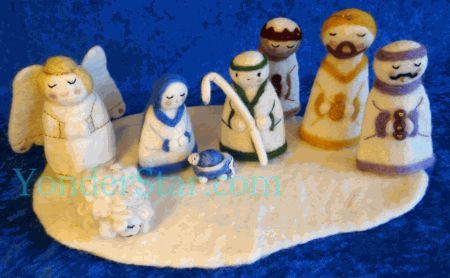 Felted Wool Nativity Set From Nepal New For NATIVITIES - Hipster nativity set reimagines the birth of jesus in 2016