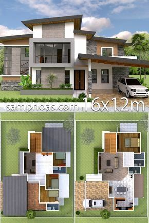 Home Interior Design 3d Image Awesome Plan 3d Home Design 20x15m Full Plan 4beds Samphoas 3d Home Design House Design Modern House Design