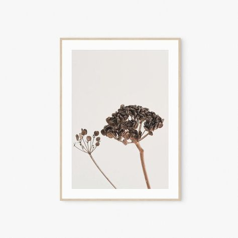 Dried Flowers Art, Botanical Print, Print Wall Art, Digital Print, Printable Wall Art, Neutral Wild