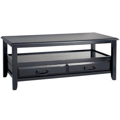 Anywhere Rubbed Black Coffee Table With Pull Handles In 2020