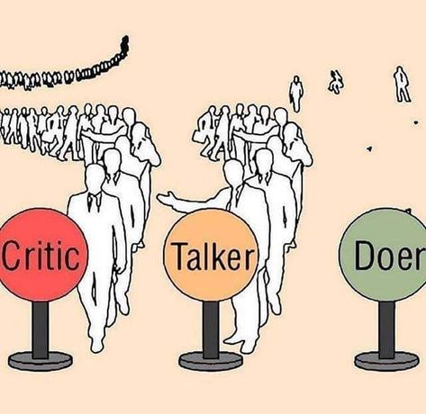 The amount of people in critic, talker and doer category 🤨🤨🤨.... Satisfied????