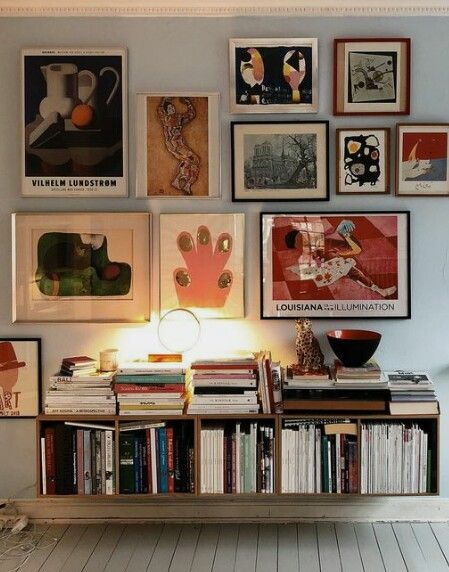 Gallery Wall Of Modern Art Walls In 2019 Decor