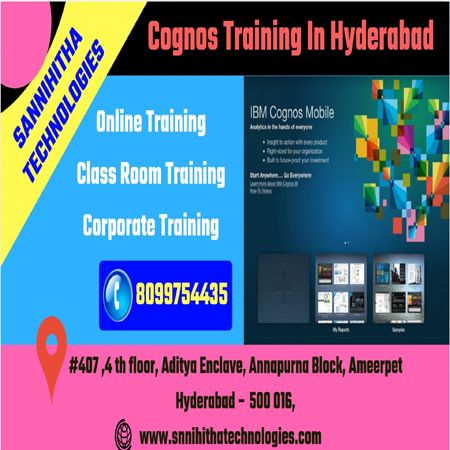 Best Cognos Training In Hyderabad Ameerpet Provides Classroom And Online Training With 100 Live Projects B Online Training Train Corporate Training
