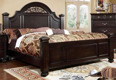 Syracuse Collection Cm7129ck Bed California King Size Poster Bed