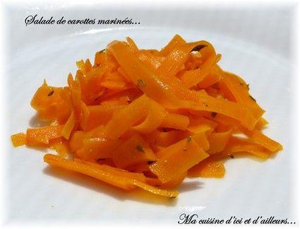Salade de carottes marinées. Pour Sim