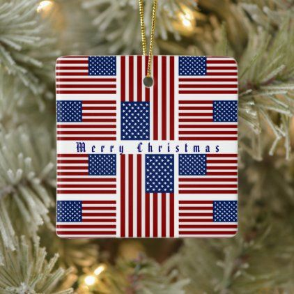 American Flag Ceramic Ornament Zazzle Com In 2020 Ceramic Ornaments American Flag Gifts For Dad