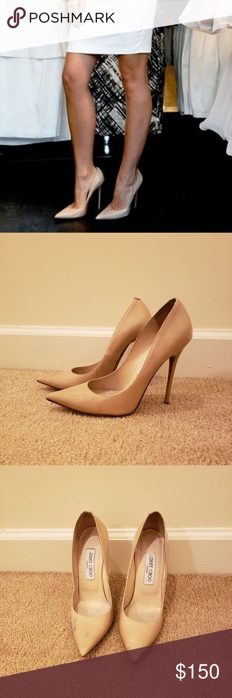 f4216d15049  DONATING SOON  Jimmy choo anouk stiletto Some scuffing on heel and some  staining on