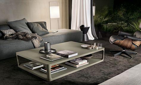 Tavolino Salotto Verde : Tavolino sixty struttura alluminio laccato opaco verde oliva e piano
