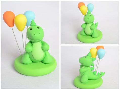 Customized Girl Dinosaur Cake Topper Set Girl Dino Cake Toppers