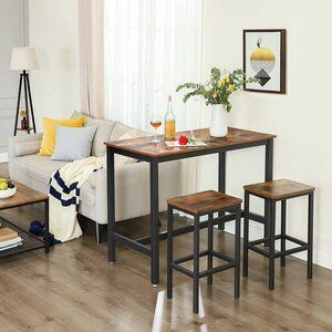 17 Stories Millan Bar Table Wayfair In 2020 Tall Kitchen Table Bar Table Vintage Dining Table