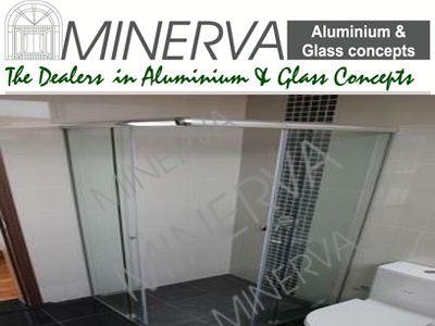 Aluminium And Glass Bathroom Shower Partition Glass Bathroom