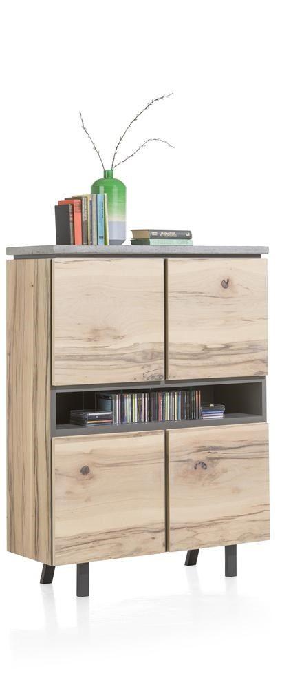 Myland Highboard 4 Tueren 3 Nischen 110 Cm Led Furniture Home Decor Cabinet