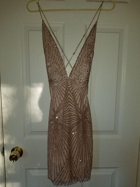 ef9c000bd461 Meshki Kayda Jewelled Mini Dress -Rose Gold - Extra Small - Worn Once  #fashion #clothing #shoes #accessories #womensclothing #dresses (ebay link)