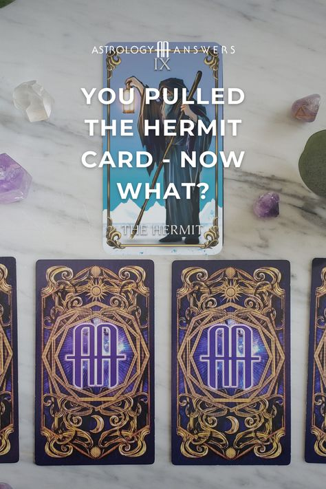 Let's take a look at the Hermit Tarot card and what it might mean for you when it comes to love, careers, obstacles, and more! #tarot #hermit #thehermit #astrologyanswers