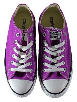Converse Chuck Taylor All Star Purple Cactus Flower Ox Trainers ... cef2f7b2a