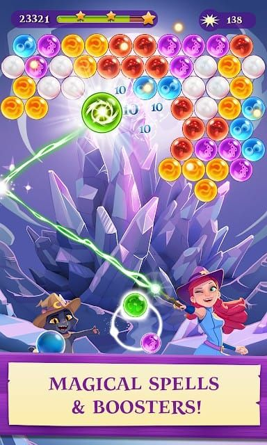Bubble Witch 3 Saga V5 9 6 Mod Unlimited Life Apk Free Android Games Bubbles Witch
