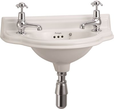 Burlington Small 51cm Curved Front Cloakroom Basin In 2020