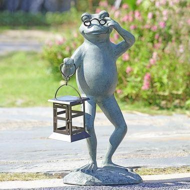 Professor Frog Led Garden Lantern Lanterne Jardin Jardins Deco Jardin