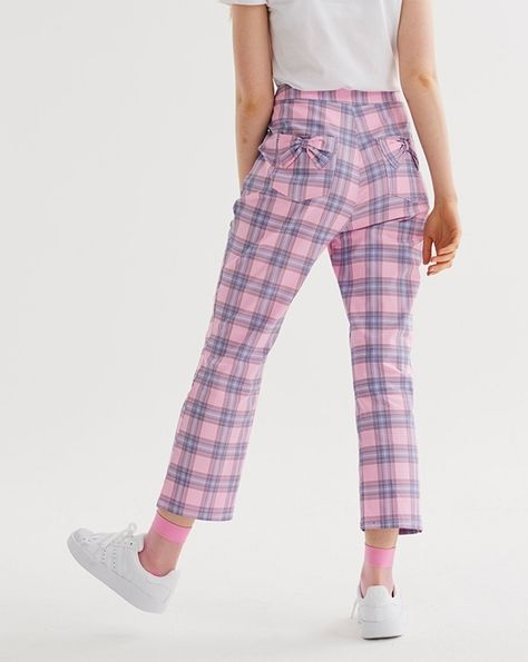 67ddbfdb39ec Lazy Oaf Bow Bum Check Trousers - Everything - Categories - Womens