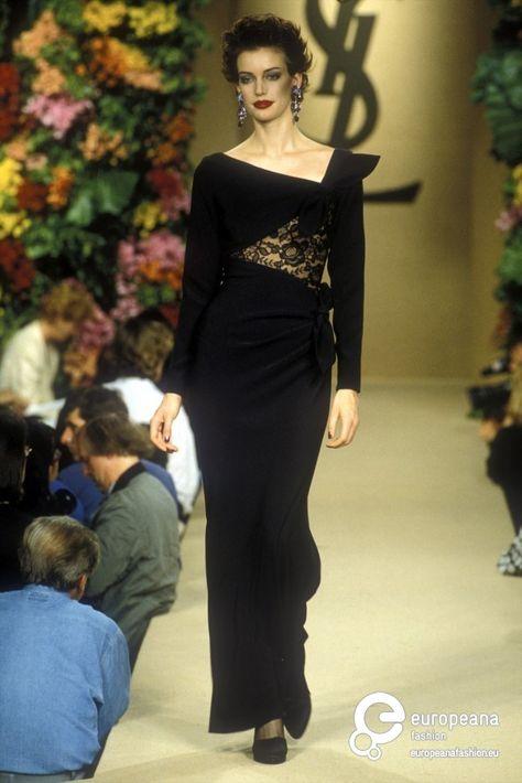 Abiti Da Cerimonia Yves Saint Laurent.Abito Da Sera Yves Saint Laurent Haute Couture 1966 Idee Couture