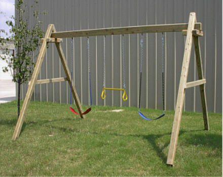 How To Build Wood Framed Swing Sets Backyard Swing Sets Swing