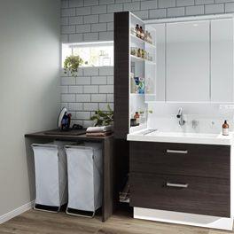 Lixil 洗面化粧室 ピアラ 特長 快適収納 ピアラ 洗面化粧台 化粧台