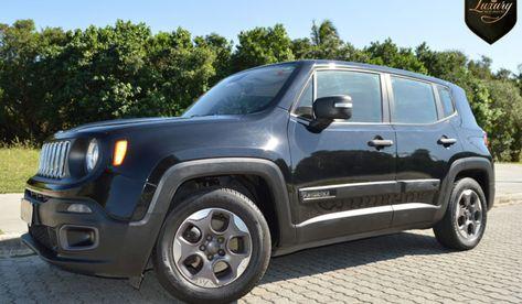 Jeep Renegade Gnv Sport Preta Com Bancos Exclusivos Jeep Renegade Jeep Jeep Preto