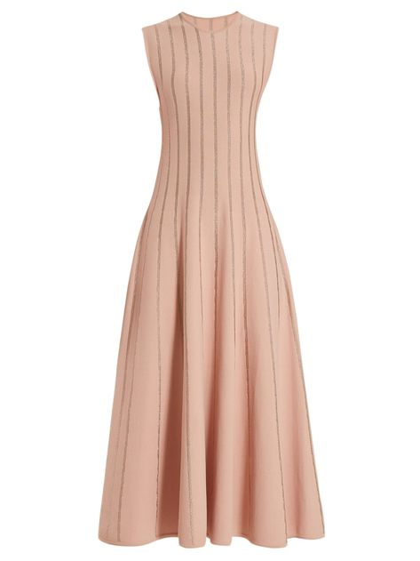 Tovi metallic-striped dress   Roksanda   MATCHESFASHION.COM