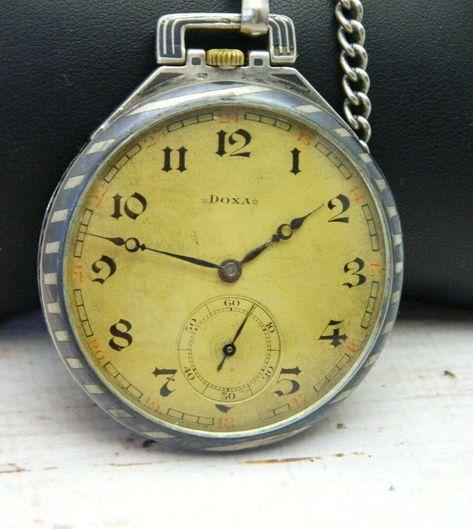 Vintage Swiss Mechanical Pocket Watch Doxa #784 #DOXA