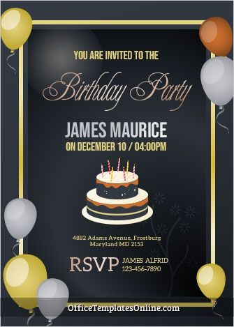 Friend S Birthday Invitation Card Template For Ms Word In 2021 Invitation Card Birthday Birthday Invitation Card Template First Birthday Invitation Cards