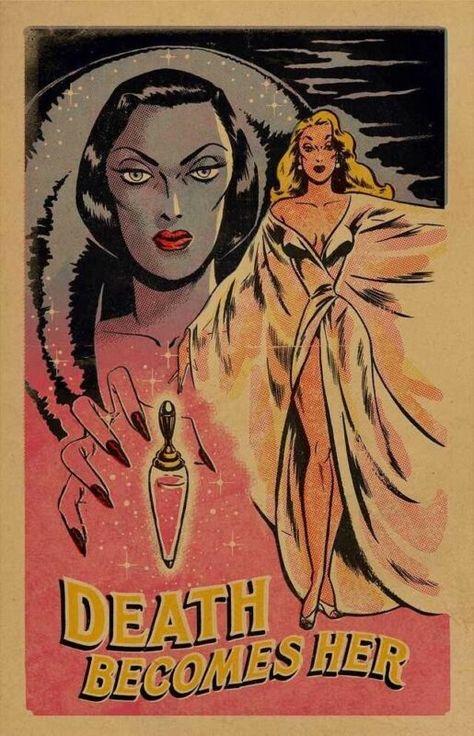 Retro Horror, Vintage Horror, Horror Art, Horror Decor, Comic Kunst, Comic Art, Fantasy Kunst, Fantasy Art, Dark Fantasy