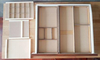 Diy Desk Drawer Organizer With Sliding Trays From Cardboard Box With Images Desk Organization Diy Diy Crafts Desk Diy Shelves Bedroom