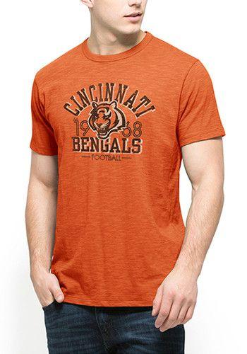 407d32b9 47 Cincinnati Bengals Orange Scrum Short Sleeve Fashion T Shirt ...