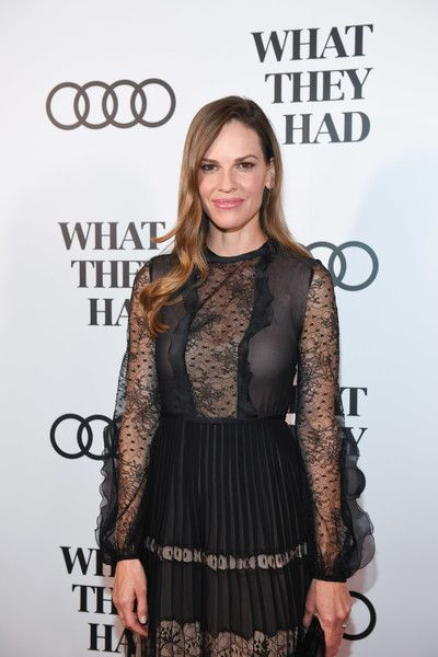 Hilary Swank attends an event in celebration of 'What They Had' during the Toronto International Film Festival.