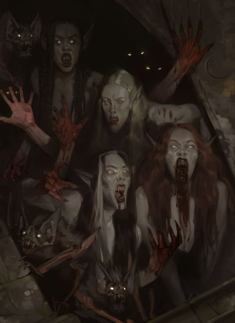 Want to discover art related to vampire? Check out inspiring examples of vampire artwork on DeviantArt, and get inspired by our community of talented artists. Dark Fantasy Art, Fantasy Kunst, Fantasy Girl, Gothic Horror, Arte Horror, Gothic Art, Art Vampire, Gothic Vampire, Art And Illustration