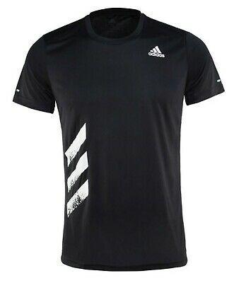Adidas Men RUN IT PB Shirts Training Black T-Shirt Tee Casual GYM ...