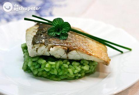 Lubina Al Horno Con Arroz De Guisantes Recipe Food Food Photo Recipes