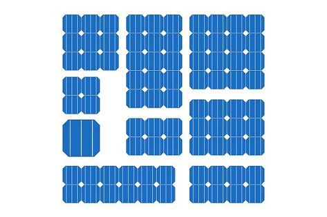 Blue Solar Cell Panel Set Solar Cell Solar Solar Power System